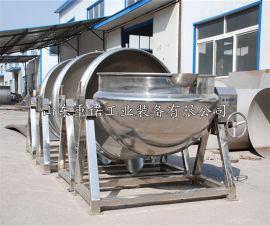 重诺自动炒料机夹层锅可倾式酱料行星搅拌高粘度炒锅