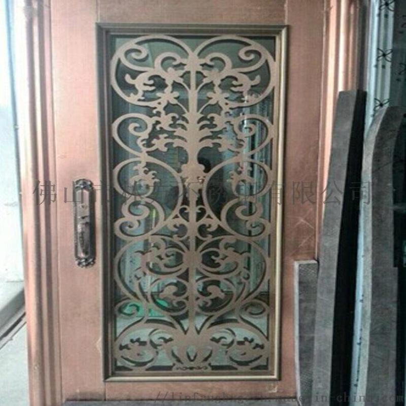 镀铜不锈钢门花系列 高品质门花 窗花配件定制