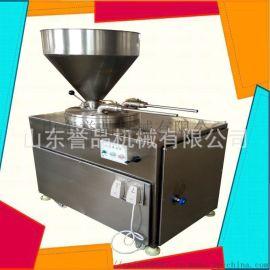 液压灌肠机双出料口全自动连续灌装香肠生产线定制