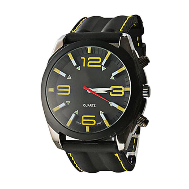 手錶工廠直銷新款戶外運動矽膠錶帶石英防水手錶