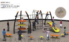 南宁公园攀爬拓展玩具 幼儿园户外大型拓展训练组合