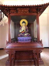 大型红木佛龛 红木雕刻寺院佛台须弥座