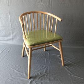 工厂直销北欧实木公主椅奶茶店椅子扶手圈椅靠背餐椅