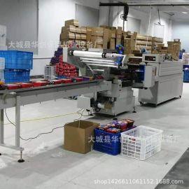 全自动枕式包装机 自动套袋封切收缩包装机 蛋糕面包食品装袋机