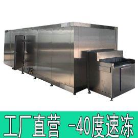 山药段隧道式速冻机 冷冻食品加工设备 厂家定制