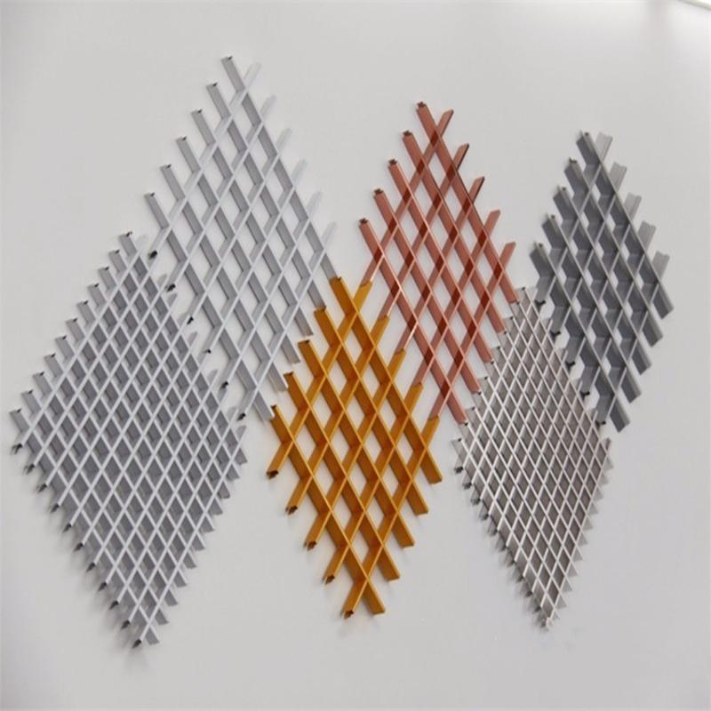 厂家定制铝格栅天花吊顶防火装饰吊顶木纹铝格栅