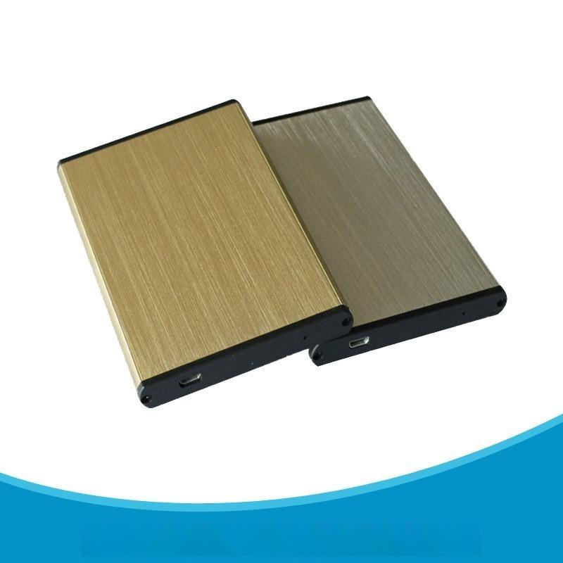 直销2.5寸SATA移动硬盘盒USB2.0传输接口 时尚金属拉丝工艺硬盘盒