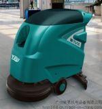 手推式電瓶全自動洗地機/廠房地板清洗/車間油污地板刷洗