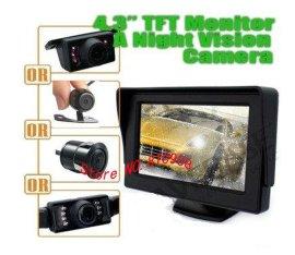 可视倒车影像4.3寸车载显示器+通用后视摄像头汽车后视系统