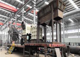 简易环保移动式破碎站 石英石矿石新型制砂机