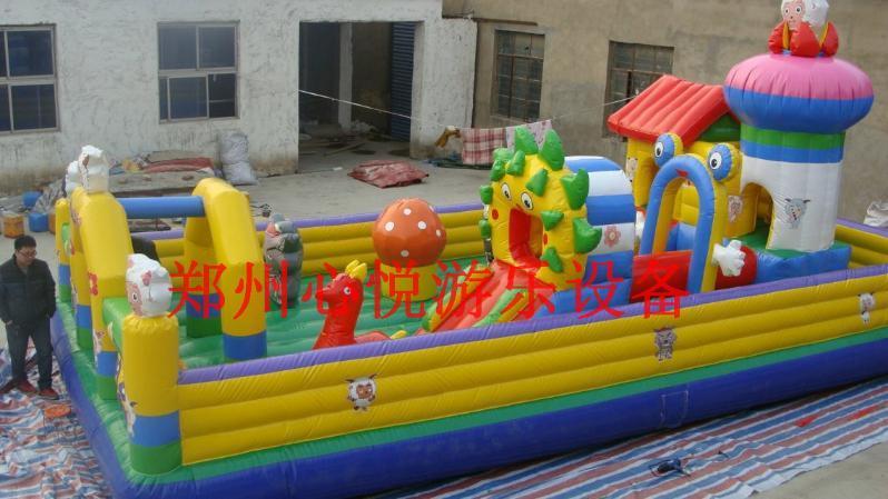 室外儿童充气城堡 大型充气蹦蹦床 60平方花仙公主现货厂家直销