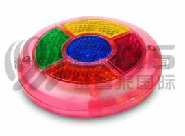 智力数字游戏毛绒玩具 密码闪灯游戏玩具 圆形毛绒填充玩具