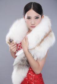 狐狸皮草整條皮圍脖女士圍巾