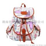 廠家直銷新款韓版印花雙肩包女包休閒帆布包旅行揹包