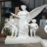 歐式園林景觀人造砂巖天使人物雕塑定做廠家