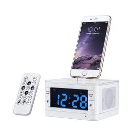 厂家直销MOZUO T7闹钟蓝牙音箱手机充电底座播放遥控可一件起批