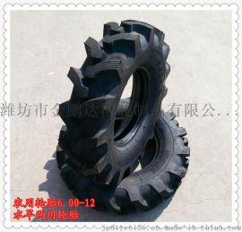 水旱两用轮胎600-12 农用拖拉机轮胎6.00-12 人字花纹