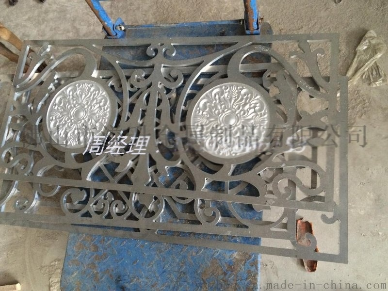 室内铝雕刻楼梯护栏效果图 楼梯护栏间距厂家