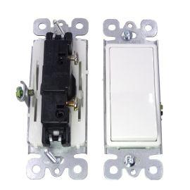 宝智霖供应美式单联家用墙壁开关 美标电源拨动器 一开单控开关