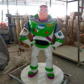 廠家定做促銷鋼雕廣場動物玻璃鋼裝飾雕塑巴斯光年雕塑定做