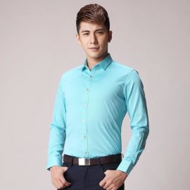 男士時尚條紋長袖襯衣修身商務青年男裝襯衫批發