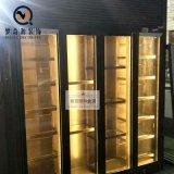 佛山夢奇源 簡約現代客廳不鏽鋼酒櫃 玫瑰金鈦金紅酒櫃 可定製