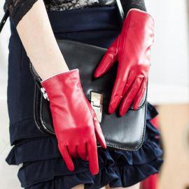 厂家定制各种尺码时尚女士纯皮手套
