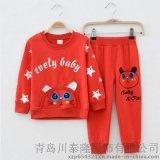 2015春款童套装韩版小熊印花童装男女童纯棉两件套厂家直销批发