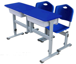课桌椅塑钢课桌椅 双人课桌椅 学生课桌椅 中小学课桌椅厂家直销