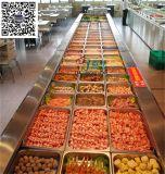 多倫多自助風冷點菜櫃,臥式小菜保鮮臺,自助餐開槽格子小菜展示櫃