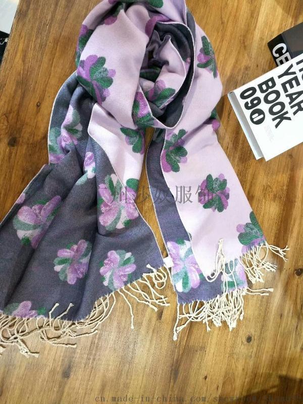 上海故事天絲棉圍巾,女裝庫存尾貨折扣,品牌走份批發