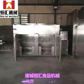 YX-100烤鸭烟熏炉 腊肠烟熏炉 鱼类蒸煮炉厂家