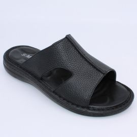 男拖鞋 沙滩鞋 按摩垫凉拖 真皮牛皮拖鞋