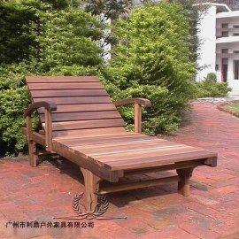 木制户外沙滩椅折叠躺椅户外木躺椅躺椅子折叠椅午休椅时尚靠椅