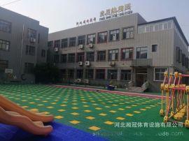 第三代懸浮地地板雙色雙米拼裝地板廠家施工安裝