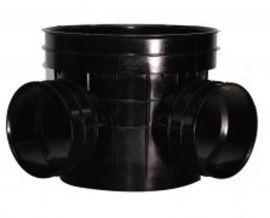 厂家直销料塑料检查井_ 450塑料直通检查井座_井筒井盖胶圈