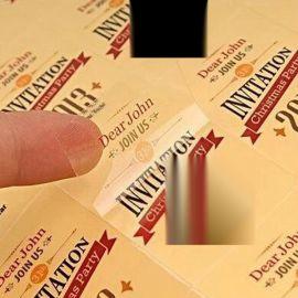 定做透明牛皮纸/不干胶标签/烫金不干胶贴纸/合格证印刷/pvc标签贴