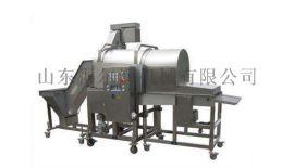 自动鸡柳上糠机 筛网滚筒式裹粉机 肉制品上浆裹粉机