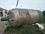 转让二手10吨不锈钢外盘管反应釜