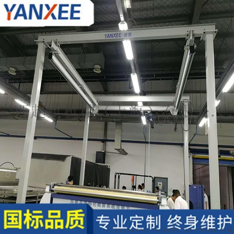 太倉汽車配件製造廠定製鋁合金自立式起重機