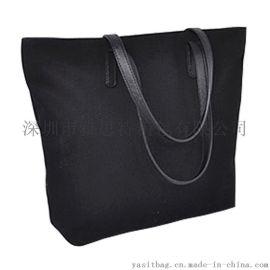 帆布大容量手提袋定制大容量托特包时尚休闲单肩包