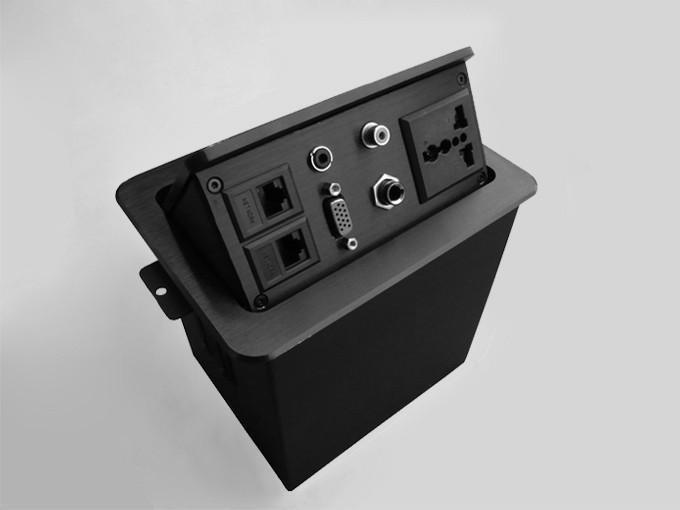 桌面插座,按弹式桌面插座,气撑式台面插座,免焊接嵌入式桌面插座