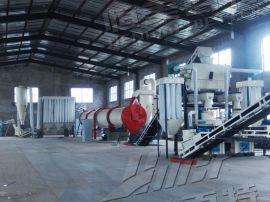 时产1-1.5吨木屑颗粒机生产线工序介绍安装现场