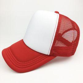 帽厂直供成人儿童海绵网帽,大量现货,可印刷任意图案