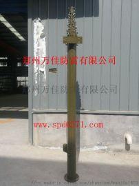 10米通信保障车载天线升降杆,移动式手动升降避雷针