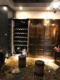 别墅不锈钢酒柜酒窖|定制不锈钢恒温酒柜厂家