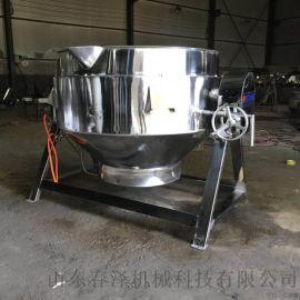 小鸡炖蘑菇蒸汽夹层锅 卤肉蒸煮锅 卫生级夹层锅