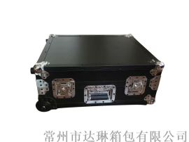 航空箱厂家 铝合金拉杆箱 黑色铝箱高档仪器箱