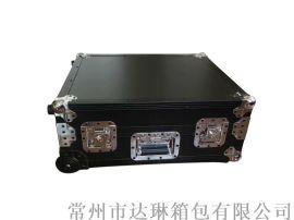 航空箱廠家 鋁合金拉杆箱 黑色鋁箱高檔儀器箱
