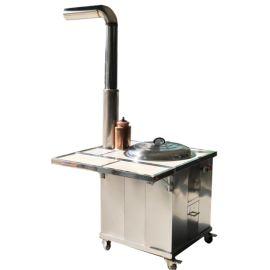 移动式柴火灶/不锈钢配烟囱带铜水箱室内外柴火灶